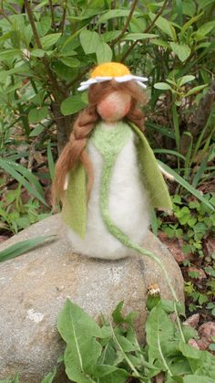 needle felting / flower fairy