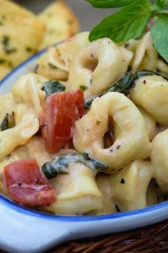 "Spinach Tomato Tortellini | ""I made this for company last night and it was a huge success!""  #pasta #pastarecipes #pastainspiration #pastadinner #pastaideas #pastadinner #pastaideas Spinach Pasta Sauce, Spinach And Tomato Tortellini, Tortellini Recipes, Creamy Tomato Sauce, Tomato Cream Sauces, Cheese Tortellini, Pasta Recipes, Cooking Recipes, Pasta Dishes"