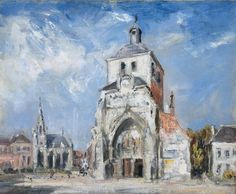 'The Church at Montreuil', 1907 by Philip Wilson Steer (1860-1942, United…