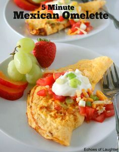 Mexican Omelette2 Breakfast Omelette, Breakfast Recipes, Breakfast Ideas, Mexican Food Recipes, Low Carb Recipes, Atkins Recipes, Diet Recipes, Recipies, Low Carb Cheesecake Recipe
