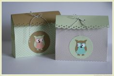 Stampin Up! Verpackung Box Eule, Owl