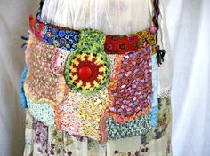 Crazy crochet bag.
