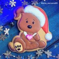 """Трафарет+форма """"Пес в рождественском колпаке 2. Год собаки"""""""