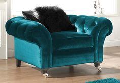 Bon Love This Turquoise Velvet Chair.