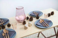 Herbst Tisch Deko Kupfer