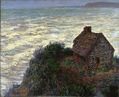 Claude Monet (French, Impressionism, 1840-1926): House of the Customs Officer, Varengeville [aka House of the Customs Officer, Pourville (near Varengeville, Normandy Coast)], 1882. Oil on canvas, 61 x 74.9 cm (24 x 29-1/2 inches). Harvard Art Museums/Fogg Museum, Cambridge, Massachusetts, USA.
