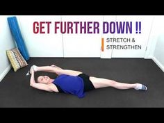 How to do the spits - get further down Dance Flexibility Stretches, Ballet Stretches, Stretching, Jazz Dance, Dance Class, Ballet Dance, Dance Tips, Dance Lessons, Dancer Workout