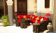 Find a nice corner in your Riad to enjoy a cup of Moroccan Mint tea! www.asilahventures.com