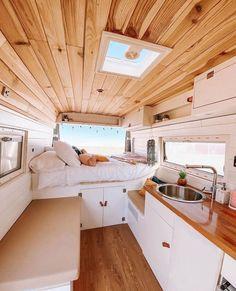 Van Conversion Interior, Camper Van Conversion Diy, Bus Living, Tiny House Living, Van Home, Campervan Interior, Bus Life, Remodeled Campers, House On Wheels