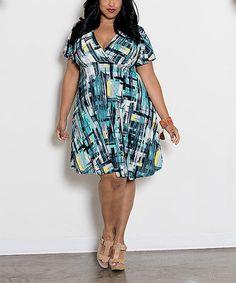 Another great find on #zulily! Green Zella Dress - Plus #zulilyfinds