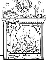 christmas fireplace coloring page christmas scenery christmas colors christmas fun xmas christmas
