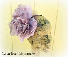 Smoky Lavender Flower Headband by LuluDeuxMillinery on Etsy