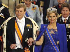 król i królowa Niderlandów - Willem-Alexander i Maxima