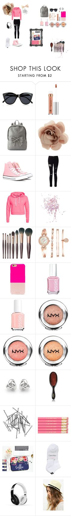 """""""Back to school"""" by ashlee-03 ❤ liked on Polyvore featuring Le Specs, Anastasia Beverly Hills, Candie's, Accessorize, Converse, Miss Selfridge, Only Play, Topshop, Charlotte Tilbury and Anne Klein"""