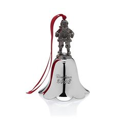 Wallace 25th Anniversary Edition 2016 Nickel Plated Santa Bell Ornament