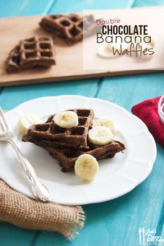Double Chocolate Banana Waffles (gluten-free, dairy-free, paleo) @American Express #spon