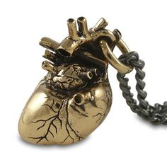 Anatomical Heart Necklace - Bronze at shanalogic.com