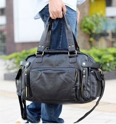 Leather bag. Follow the board. Follow the modern and stylish man clothes and accessories.