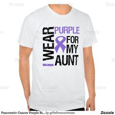 Pancreatic Cancer Purple Ribbon (Aunt) T-shirts