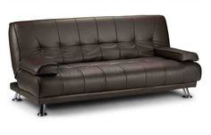 Humza Amani Venice Sofa Bed in Faux Leather Sofa Bed (Black) Bed Settee, 3 Seater Sofa Bed, Futon Sofa Bed, Sleeper Sofa, Sofa Bed Brown, Sofa Bed Black, Pink Sofa, Comfortable Futon, Bed Next