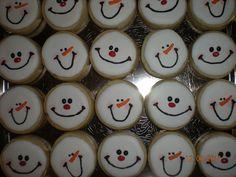 simple snowman cookies