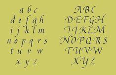 Kaligrafie Alfabet Humanistisch Cursief