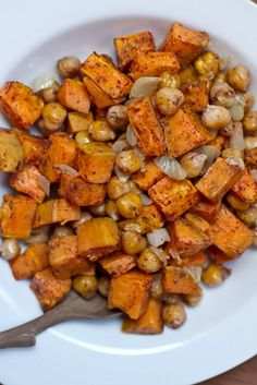 Cinnamon Sweet Potato Chickpea Salad // made 10/8/13 for Katie, SO GOOD. Very flavorful and comfort-food-y. Good variety of textures. Katie (meat-eater) loved it!!