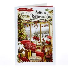 Christmas Card - Lovely Sister & Brother In Law | Card Factory