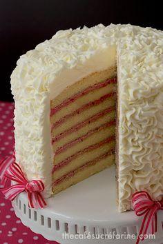 7-Layer Lemon Layer Cake with Blackberry Buttercream Filling