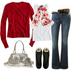 """bling button in cherry"" by carrie2 on Polyvore"