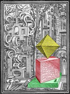 Lorenz Stoer, 'Geometria et perspectiva', 1567, Page 1 Selective Colorization