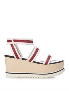 7619322aa Sportmax Hull leather platform sandals - ShopStyle. FlatsSandalsSummer ShoesVacation  StylePlatformWomen ...