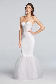 c18b328e502 Trumpet Silhouette Slip TRUMPETSLIP Slip Wedding Dress