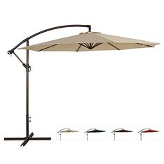 Ulax Furniture 10 Ft Offset Cantilever Hanging Patio Umbrella, Tilt W/Crank Outdoor, PU Coated, Waterproof, Beige - http://www.amazon4all.net/ulax-furniture-10-ft-offset-cantilever-hanging-patio-umbrella-tilt-wcrank-outdoor-pu-coated-waterproof-beige/