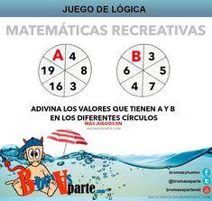 Adivinar 2 resultados  En este juego os proponemos que averigüéis dos resultados, A y B. Cada uno está en un círculo dividido en 6 porciones. Debéis encontrar el resultado.  El juego de matemáticas se resuelve empezando, en el caso del Círculo A, por el número 4 y en el sentido de las agujas del reloj. Y en el caso B empieza por el número 3