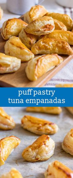 Tuna Empanadas {Easy Tuna Fish Filling Puff Pastry Appetizer Recipe} / easy appetizer recipe / puff pastry recipe / protein snack recipe via @tastesoflizzyt