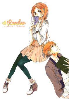 IchiHime by Jinjiro-Higuchi on DeviantArt Sword Art Online, Ichigo Y Orihime, Bleach Anime, Dream Art, Anime Naruto, Anime Love, Chibi, Hero, Fan Art