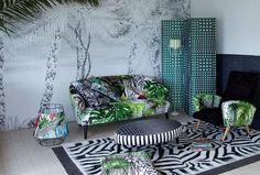 Salon vert, Collection Belles Rives, Christian Lacroix - Plus de photos sur Côté Maison http://petitlien.fr/724y