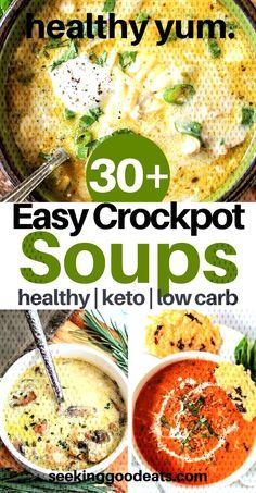 #seekinggoodeats #ketorecipes #slowcooker #ketogenic #enchilada #weeknight #ket... Italian Soup Recipes, Mexican Soup Recipes, Beef Soup Recipes, Healthy Soup Recipes, Crockpot Recipes, Dinner Recipes, Easy Crockpot Soup, Crock Pot Soup, Chicken Enchilada Soup
