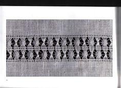 Lene Richelieu e Bainha Aberta: Bainha abertas Explicadas 2 parte Drawn Thread, Thread Work, Needle Lace, Work Inspiration, Arts And Crafts, Embroidery, Antiques, Stitches, Linen Tablecloth