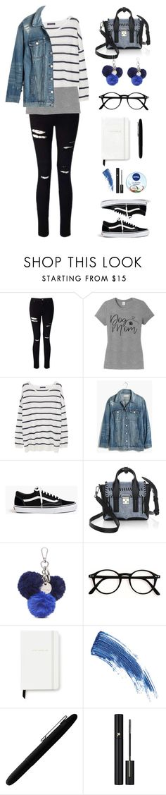 """Go way🔵👋🏼"" by itsdacutie ❤ liked on Polyvore featuring Miss Selfridge, MANGO, Madewell, J.Crew, 3.1 Phillip Lim, Nine West, Kate Spade, Eyeko, Fisher Space Pen and Nivea"