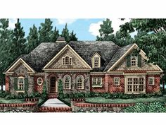 Eplans Cottage House Plan - Sprawling European Manor - 2302 Square Feet and 3 Bedrooms from Eplans - House Plan Code HWEPL14254