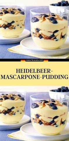 zutaten: 1 pck. Dr. Oetker original puddingpulver vanille-geschmack 50 g zucker 500 ml milch Dairy Free Chocolate Cake, Cereal, Breakfast, Desserts, Food, Vanilla, Mascarpone, Almonds, Dessert Ideas