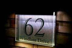 """LED House Number Plaque 