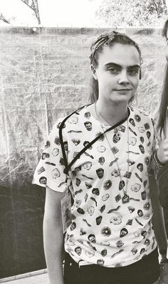 Cara Delevingne in our ron swanson tee