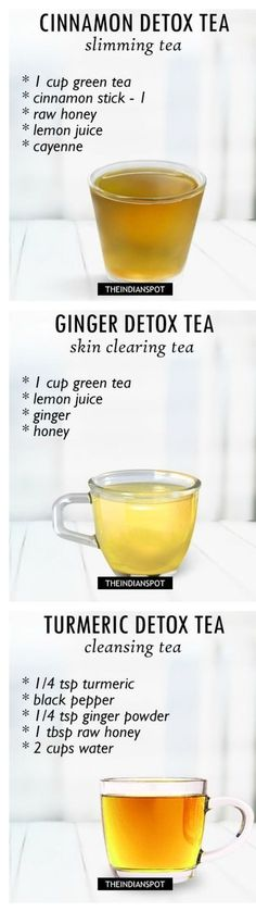 Morning Detox tea recipes for healthy body and glowing skin #DetoxAcneDiet