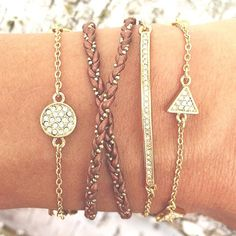 A dainty #armsoirée brought to you by Merchandiser Lisa + our Minimalist Layers! #wristwednesday