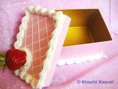 Strawberry Cake Box: Rectangle by ~FrostedFleurdeLis on deviantART