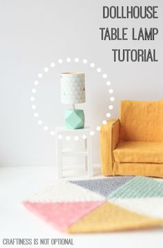 Tutoría de lámpara de mesa para casa de muñecas - Dollhouse table lamp tutorial