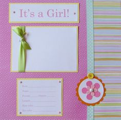 20 BABY GIRL Scrapbook Pages for 12x12 FiRsT YeAr por JourneysOfJoy